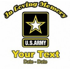 Army Memory Decal