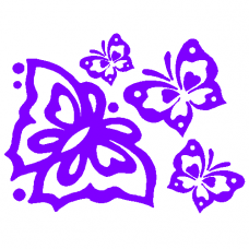 Butterly Swarm Decal