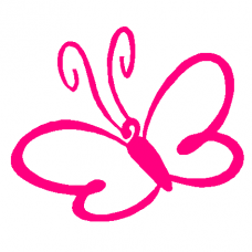 Swirly Butterfly Decal