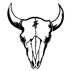 Cows Skull Wall Decal