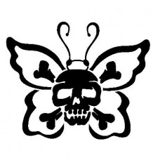Butterfly Skull Decal