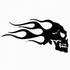 Flaming Skull 10 Decal
