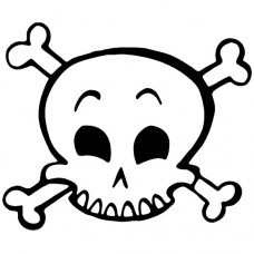 Happy Skull Decal