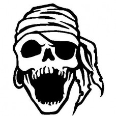Laughing Pirate Skull Deca