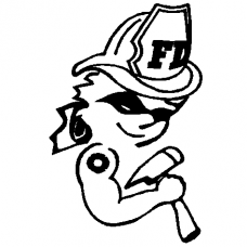 262 - Firewoman vinyl decal