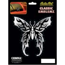 Embossed Butterfly Decal