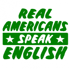Americans English wall decal