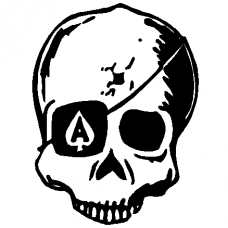 Ace of Skulls Wall Decal