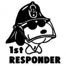 720 - Fireman Snoopy decal
