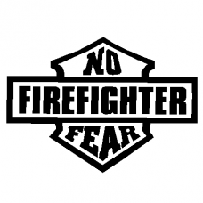 829a - Firefighter no fear decal