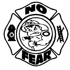 829b - No Fear Fireman decal