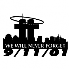 911 Never Forget Wall Decal