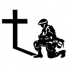 991 - Army Guy Praying decal