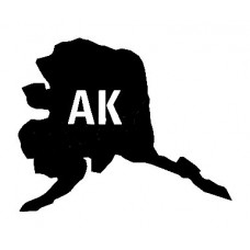 AK US State Shape Vinyl Decal