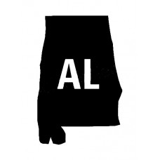 AL US State Shape Vinyl Decal