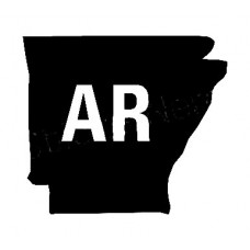 AR US State Shape Vinyl Decal