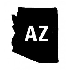 AZ US State Shape Vinyl Decal