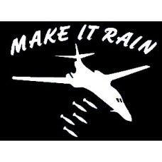 Airforce MAke it Rain Decal
