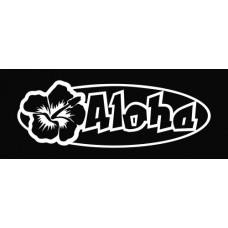 Aloha Hibiscus Flower Wall Decal