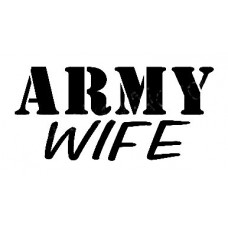 Army Wife Military Sticker