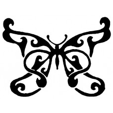 Ornate Butterfly Decal