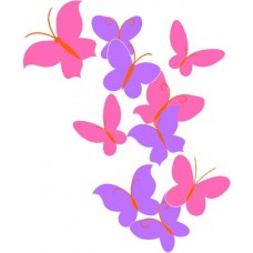 Copy of Color Butterfly Wall Graphic 2