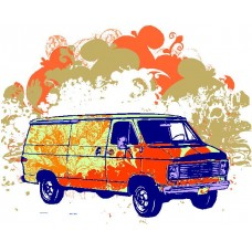 Hippie Van Wall Decal