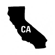 CA US State Shape Vinyl Decal