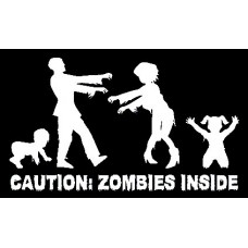 Caution ZOMBIES Inside Wall Decal