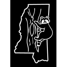 Coon  Hunting Alabama Diecut Vinyl Hunting Decal