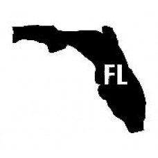 FL US State Shape Vinyl Decal