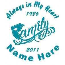 Family Circle Memory Decals