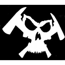 Firefighter Skull and Ax Decal