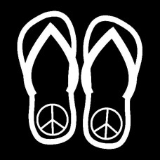 Flip Flop Decals with Peace Signs