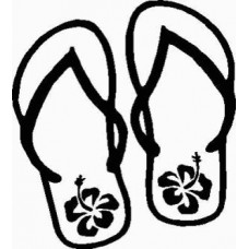 Flip Flop Flower Wall Decals