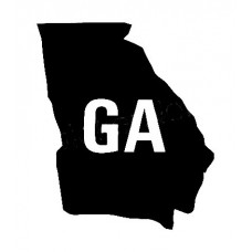 GA US State Shape Vinyl Decal