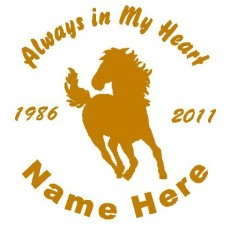 Horse Circle Memory Decals