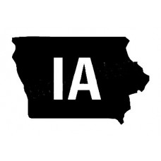 IA US State Shape Vinyl Decal
