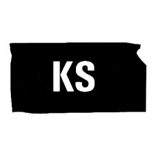 KA US State Shape Vinyl Decal