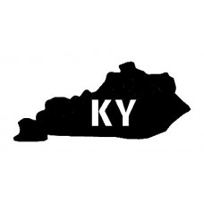 KY US State Shape Vinyl Decal