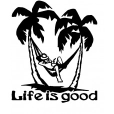 Life is good Vinyl Car Decal