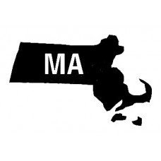MA US State Shape Diecut Vinyl Decal