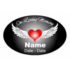 Oval Memory Decal