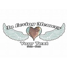 Photo Heart Wings Memory Decal