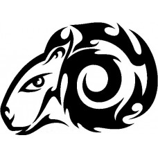 Tribal Ram Stickers 2