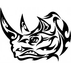 Tribal Rhino Stickers 4