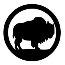 Bison Circle Decal