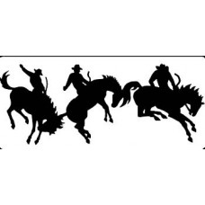 Bucking Broncos Decal