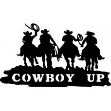 4 Cowboys Up Riding Horses