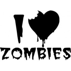I Love Zombies Wall Decal